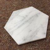 Práctico de costa material del hexágono del mármol 98m m de Bianco Carrera