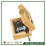 Di Music Box di legno di stampa su ordinazione con il movimento del metallo