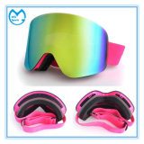De dubbele Vlakke Beschermende brillen van de Motocross van het Masker van de Ski van de Lens van PC UV 400