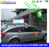 Pantalla unida Dobule 960*320 lateral milímetro de la tapa HD Advertisng del taxi de Kiongdom LED