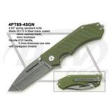 """4.5 """" закрыли нож ручки G10 замка вкладыша при помытый камень: 4PT113-45bk"""