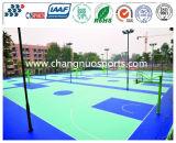 Materiale sintetico ecologico esterno della pavimentazione del campo da pallacanestro
