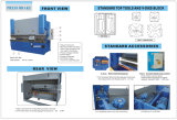 Dobladora Wc67k-100t/4000 del freno de la prensa hidráulica de China