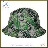 خيزرانيّ طباعة اللون الأخضر دلو قبّعة صيد غطاء بالجملة