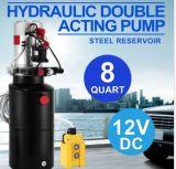 De hydraulische Dubbelwerkende Eenheid van de Macht 12V gelijkstroom - Industriële het Reservoir van het Staal van 8 Liter