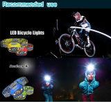 경량 Headlamp 최고 밝은 이동하는 다재다능한 LED 맨 위 빛을 하이킹하는 가장 새로운 운동성 LED 맨 위 빛