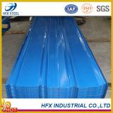 Tôle d'acier ondulée de polypropylène gris de prix de gros