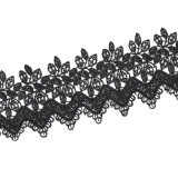 熱く新しい個人化されたデザイン広く黒のハンドメイドのかぎ針編みの花文のチョークバルブのネックレス