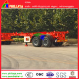 2 essieux 20 pieds 30tons Skeleton Frame Skeletal Container Semi-Trailer
