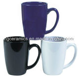 Caneca de café da faiança, caneca cerâmica, caneca de café 14oz
