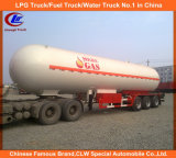 De Asme 40000L-60000L 3 del árbol del LPG del transporte del tanque del acoplado del LPG del petrolero acoplado semi para Nigeria