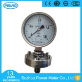 qualité de 100mm tout le type sanitaire manomètre d'acier inoxydable de membrane