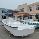25FT Fiberglas-Taxi-Boots-Handelsfischerboot für Verkauf China