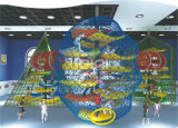 Equipamento plástico do campo de jogos das crianças LLDPE dos consoles da aventura de Kaiqi (KQ60113A)