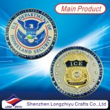 Lembrança Gold Silve Copper Medal Coin, Custom Challenge Coin Badges com Epoxy, medalhões dos EUA Flag Paint Filled, Pin Coin do Corpo dos Marines de Dual Plating Eagle Ice