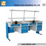 파란 Corner Dental Lab Benches 또는 Dental Technician Bench