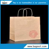 Saco natural do papel de embalagem Da cor para o saco de compra do papel do alimento