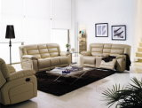 Hohes rückseitiges bequemes ledernes Recliner-Sofa