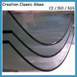 ISO/Ce/SGS 증명서를 가진 문 또는 샤워 유리를 위한 3-19mm 편평한 강화 유리