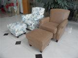 Sofá do couro genuíno da sala de visitas (C458)