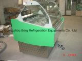 Congelatore di vetro curvo della visualizzazione del gelato con Ce