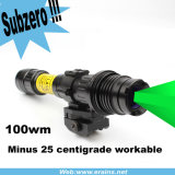 Visão noturna Subzero Solution Hunting Torch Light de Rifle Scope do laser Designator Illuminator /Sight da Longo-distância 100MW Green de Zoomable (ES-LS-KS300)