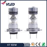 Blanc lumineux H7 100W de regain de projecteur d'ampoule de DEL