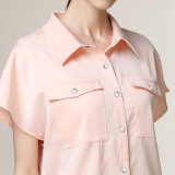 Fancy Design Formal Dress Shirt Short Sleeve pour femme