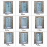 Quadrat Tempered Fabric Glass Sliding Bathroom