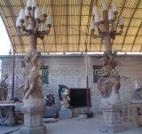装飾(SY-X1195)のための大理石の切り分ける彫像によって切り分けられる石造りの切り分ける庭の彫刻