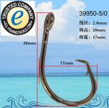 Amo 39950 dell'amo di pesca dell'acciaio inossidabile singolo