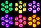 7PCS von 15W Rgbaw+UV nehmen NENNWERT-dünnes NENNWERT Innenlicht ab