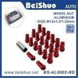 Noci estese di alluminio dell'aletta della rotella del sintonizzatore dell'estremità aperta impostate