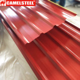 Lamiera di acciaio ondulata galvanizzata preverniciata del materiale da costruzione