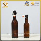 Preiswerte 750ml Brown Glasbierflaschen der Qualitäts-mit Kippen-Schutzkappe (063)