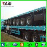 reboque Flatbed do caminhão do recipiente do Tri-Eixo de 40FT com os fechamentos da torção do recipiente
