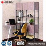 Cremalheira Aço-De madeira do Shelving da mobília do indicador da sala de visitas da manufatura DIY de China