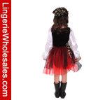 Капризный девушок Halloween ослеплять Costume причудливый платья Cosplay пирата