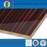 Alta tarjeta brillante de la madera contrachapada del PVC del blanco