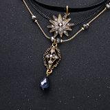 Ожерелье кожи ювелирных изделий способа разнослоистое привесное с стеклянным Rhinestone
