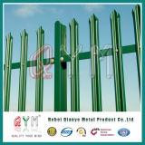 2.4m Palisade-Zaun/heißes BAD galvanisierter W und Dlattenpalisade-Zaun