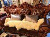 Natürliche Form-Doppelt-Haut-Schaffell-Sofa-Kissen