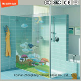 Karikatur-Bild-Digital-Lack-milderte saures Ätzung-Sicherheits-Muster der Qualitäts-3-19mm,/Hartglas für Badezimmer/Dusche/Partition mit SGCC/Ce&CCC&ISO