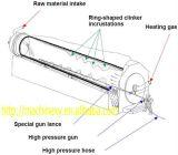 Mini preço giratório da estufa da ativação do carbono do cilindro