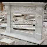 Camino bianco dell'interno di Carrara per la decorazione Mfp-477