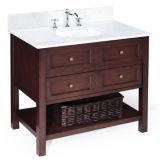 Шкаф ванной комнаты американской конструкции деревянный с зеркалом
