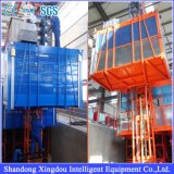 Sc Zhangqiu 건축 호이스트 또는 건축 용지 선반과 피니언 엘리베이터 호이스트 또는 건물 및 건설장비