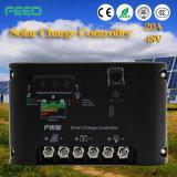 태양 가정 시스템을%s PWM 30A 20A 12V 24V LCD 태양 관제사