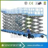 6m tot 12m Platforms van de Lift van de Mens van de Schaar 500kg de Batterij In werking gestelde Driveable