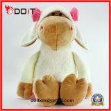 Pink Bow Soft Stuffed Plush Toy Hippo para crianças